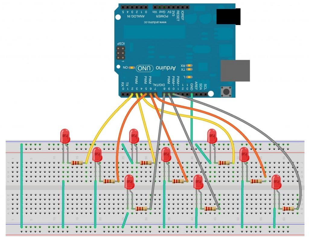 Multi dimensional arrays with arduino