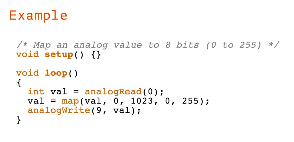 Example code cloe up