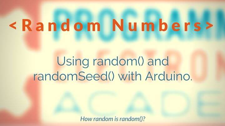 how to create random numbers in arduino