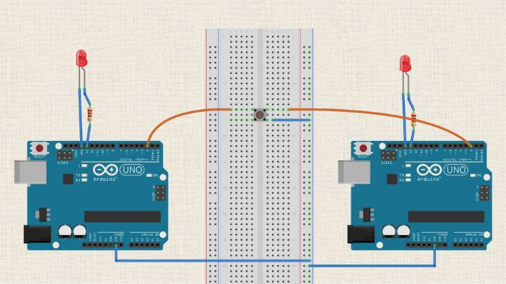 Using one button to create two inputs with Arduino