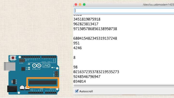 Pseudo Random Numbers with Arduino