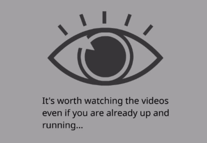 Please watch the videos.