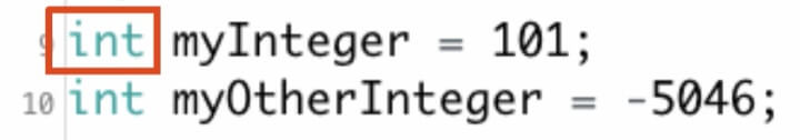 This This is an example of an integer data type.