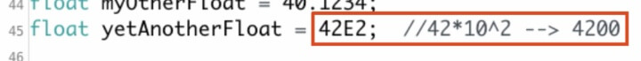 This is a picture of a float data type exponent.