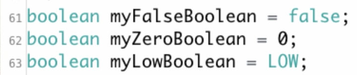 This is syntax for Boolean FALSE.