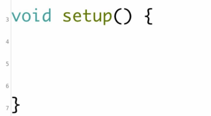 This is the syntax for the Setup function.