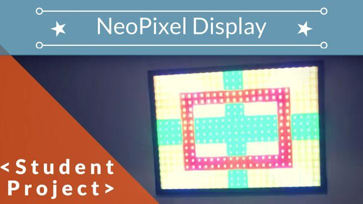 Arduino Sound to Light NeoPixel display (450 NeoPixels!) :: Student Project