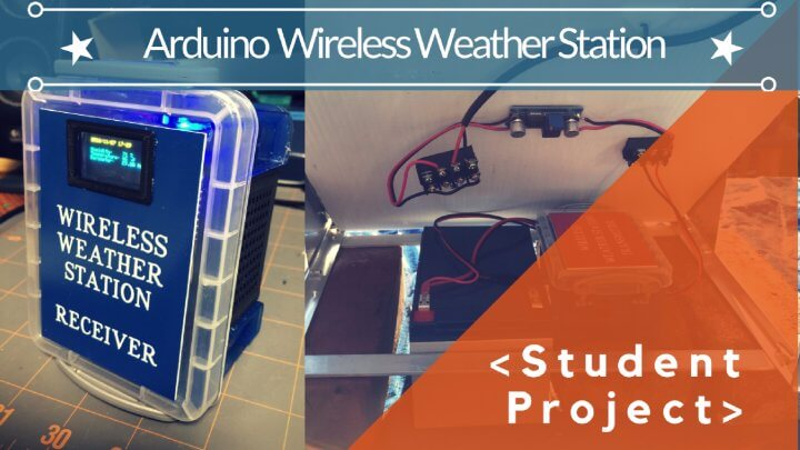Wireless Weather Monitoring With HC-12 Long Range Transceivers :: Student Project