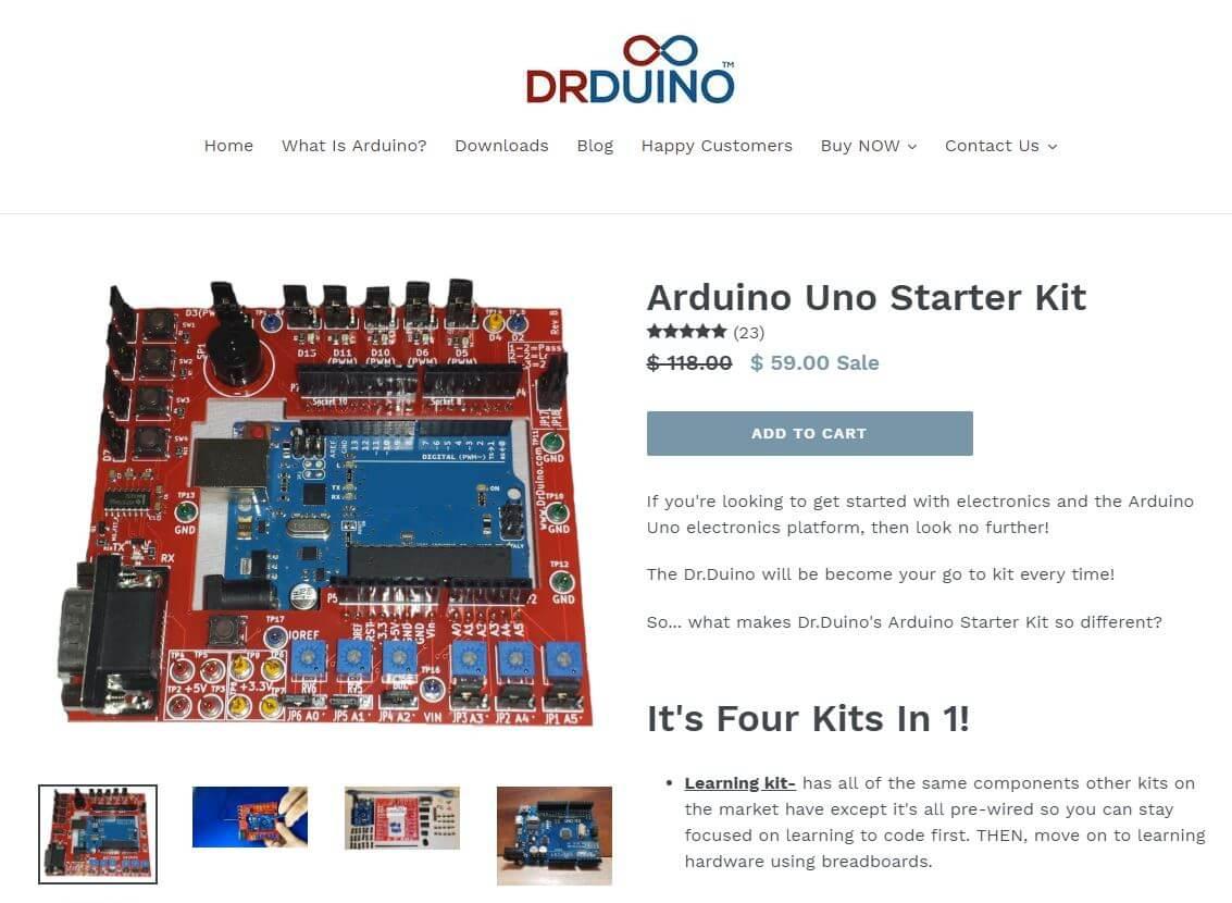 Sweet Arduino shield made by DrDuino