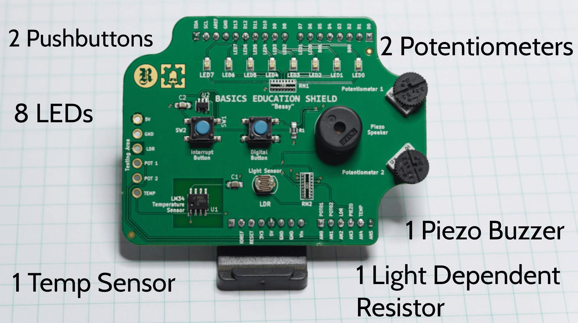 Programming Electronics Academy Kit on a Shield